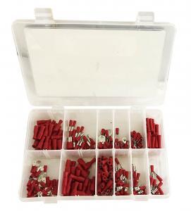 Kabelskor - Röd - Set med 260 st