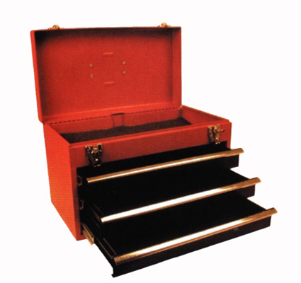 Verktygsskåp i stål med 3 lådor