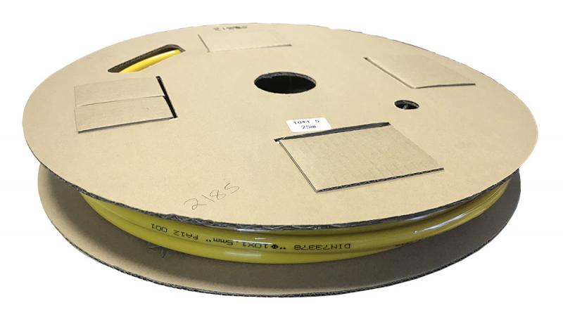 Luftslang till bromssystem 10 mm x 25 meter Gul