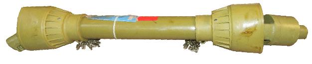 Kraftöverföringsaxel / PTO-axel 6-splines A6 - Smatterkoppling - 60Hk