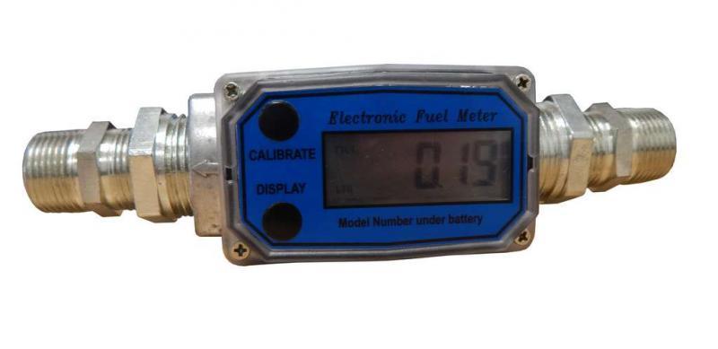 Digital flödesmätare Mäter Liter & Gallon