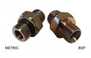 "Adapter BSP Hane 3/8"" x Metrisk Hane 12mm Konad/Flat"