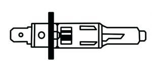 Glödlampa Halogen H1 55W LLB 448
