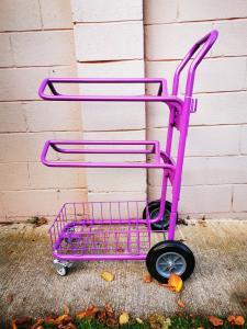 Sadelhållare på hjul för 2 sadlar
