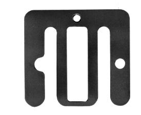 Anslutningbleck för band Universal - Stor 5-pack