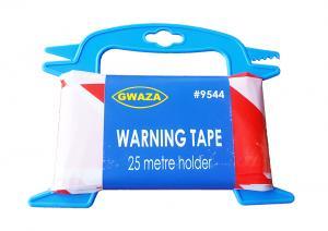 Varningstejp med hållare 25 meter Röd/Vit
