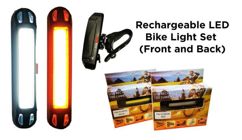 LED Lampset till cykel/elcykel etc 100 Lumens