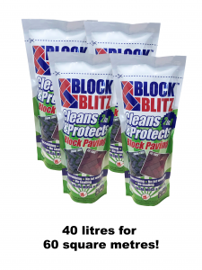 Block Blitz - bekämpar ogräs vid stenplattor etc - 40 liter