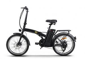 "Elcykel Roadhog - vikbar i mattsvart stålram - 20 ""hjul"