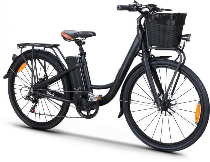 """Elcykel 26"""" - Blå - Tillverkad i Europa"""
