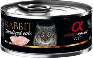 Alpha Spirit dåse, Kanin til katte sterilized 85 g