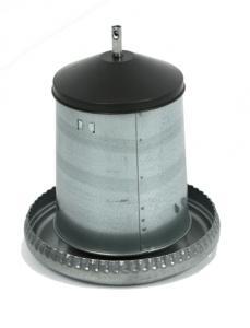 GALVANISED FEEDER SILO W/ LID - 18 KG (1)