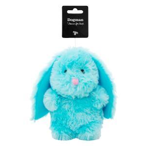 Hundlek Plysch Kanin  10x18cm Blå