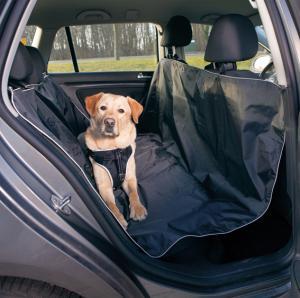 Bilskydd för baksäte, 145×160cm, svart