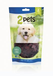 2pets Dogsnack Horse Cubes, 100 g