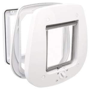 Kattdörr 4-vägs, för glasdörr,27 × 26 cm, vit