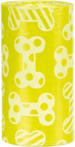 Bajspåsar, citrondoft, 4 rullar x 20 st, gul, M