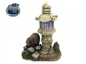 Aqua Ornaments LED Polyserin - Lanterna - 19,0x12,5x24,3cm