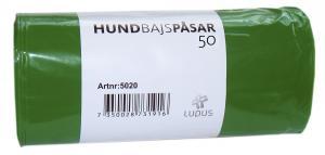 Bajspåse grön 50/rulle