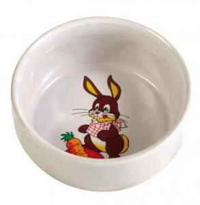 Matskål keramik motiv kanin 11 cm 300 ml