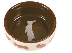 Matskål keramik motiv kanin 11 cm 250 ml