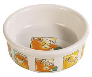 Matskål keramik motiv marsvin/morot 11,5 cm 300 ml