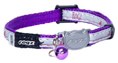 ROGZ NIGHTCAT HALSBAND XS LILA 8MM 16.5-