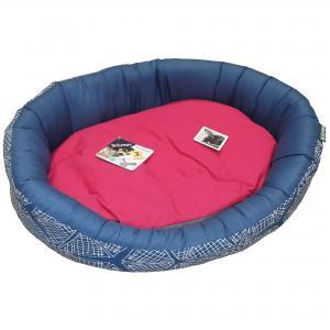 Ovalbädd Tyg Pink Spider Sömn 70x55x18 cm
