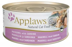 Applaws katt konserv Mackerel + Sardine 70g