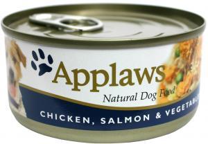 Applaws hund konserv Chicken,Salmon&Rice 156g