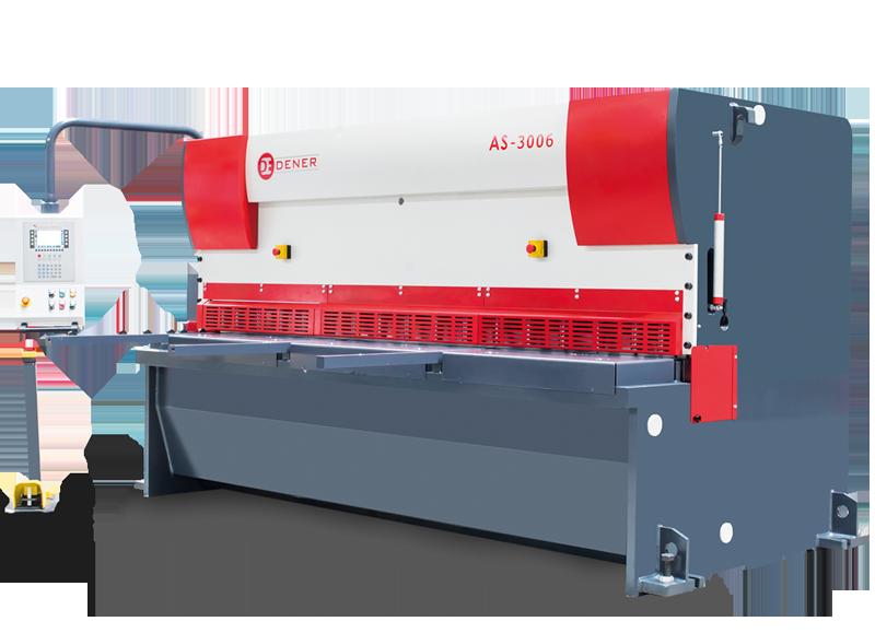 Hydraulisk Gradsax Dener CNC guillotine saxar är tillverkade av en stark solid konstruktion.