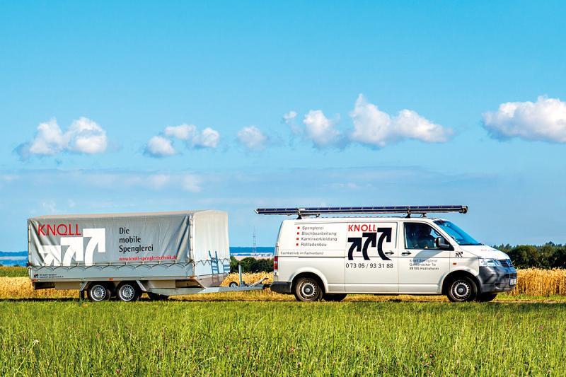 Knoll mobilt plåtslageri på trailer