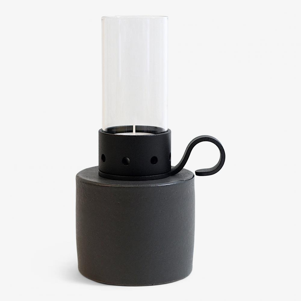 Lökenäs cylinder låg, svart