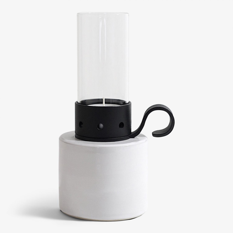 Lökenäs cylinder låg, vit