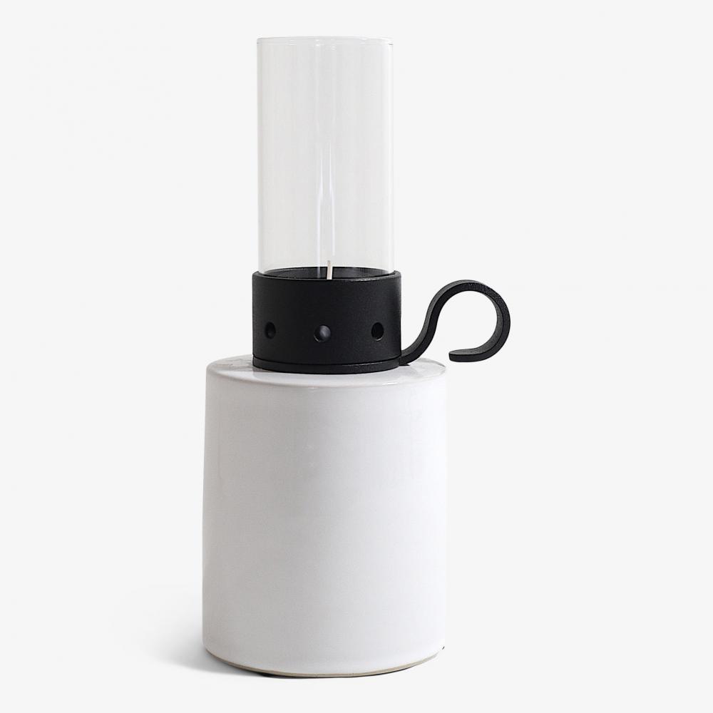 Lökenäs Cylinder hög, vit