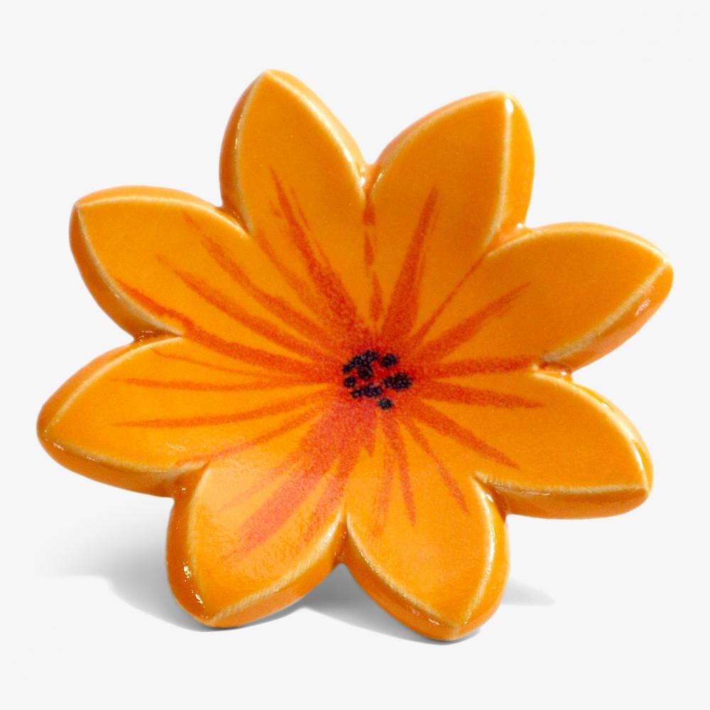 Aster orange m.klämfäste