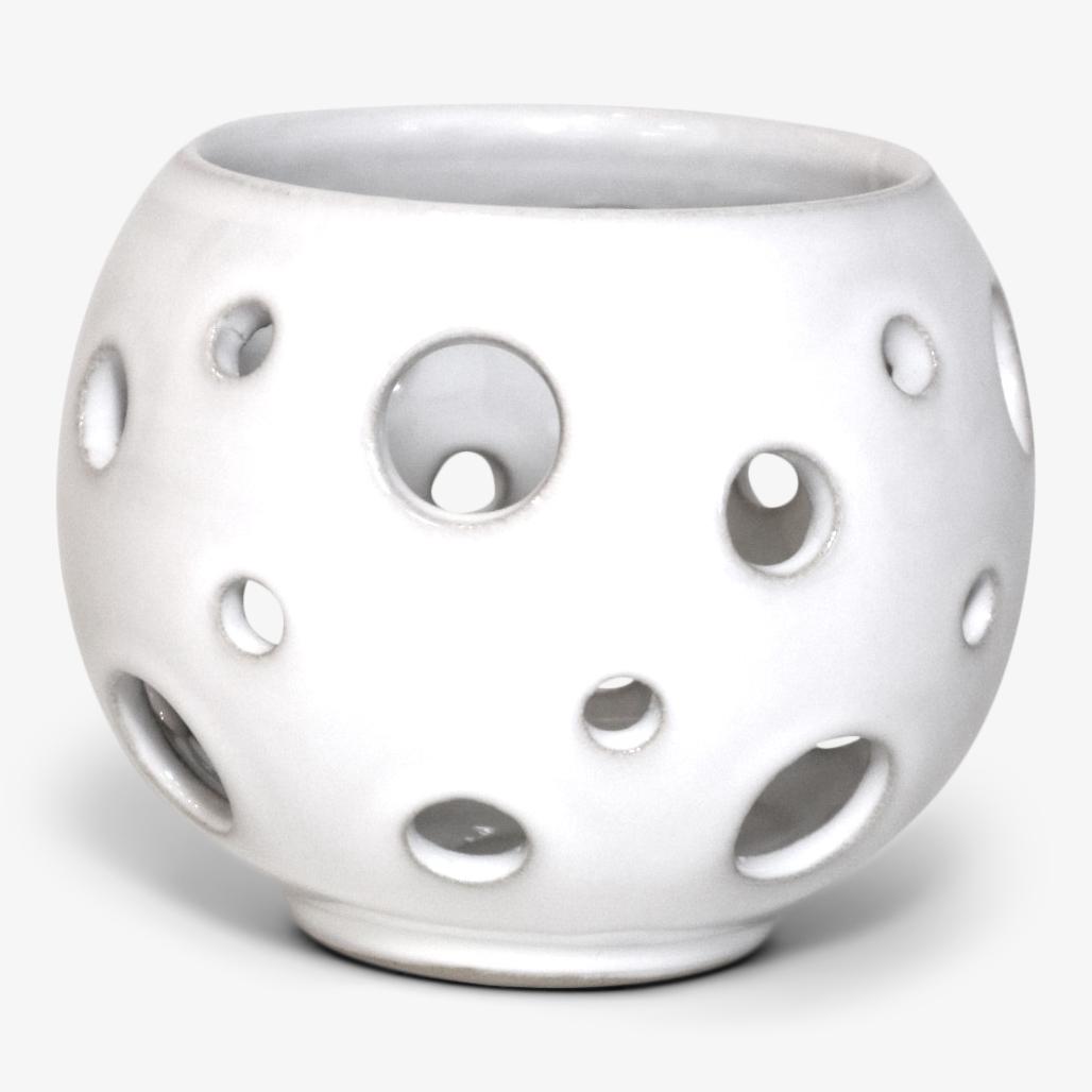 Karlevi bordslykta liten ∅11cm, vit