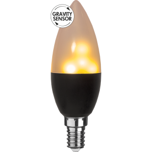LED-LAMPA E14 C37 FLAME