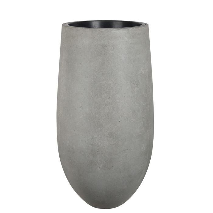 Rustik krukvas m insats, Cement D52 H100cm