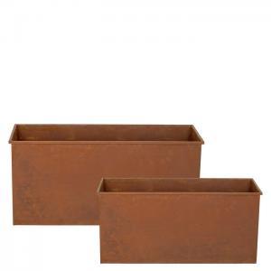 Planteringslåda Rost, 2/set, 80x30x37, 60x26x30cm, 1st/förp.
