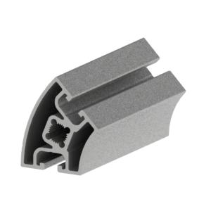 Profil 40 x 40, Basic. 45°/R80. T-Spår 8