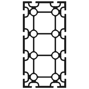 Profil 100 x 200, Tung. T-Spår 8