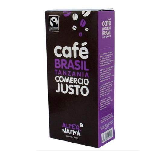 FairTrade malet kaffe, Brasilien och Tanzania, 250 g