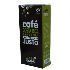 Costa Rica -Tanzania malet kaffe, fairtrade, 250 g