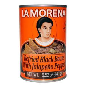 Bönröra av svarta bönor med jalapeño, La Morena,  440 g