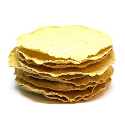 Tostadas (rostad tortillas), 12 cm, 10 tostadas per påse