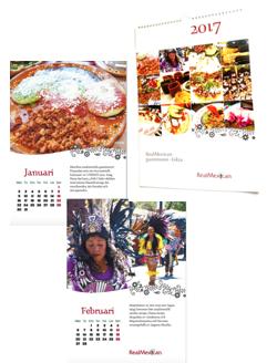 """Väggkalender """"RealMexican-Gastronomi, 2017"""""""