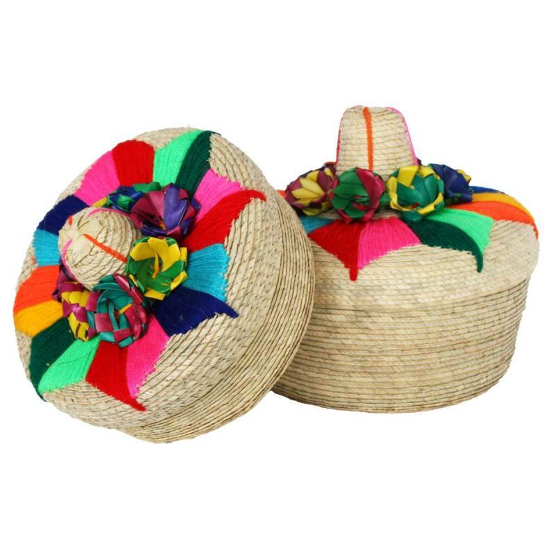 Tortillero (tortilla server) med sombrero lock