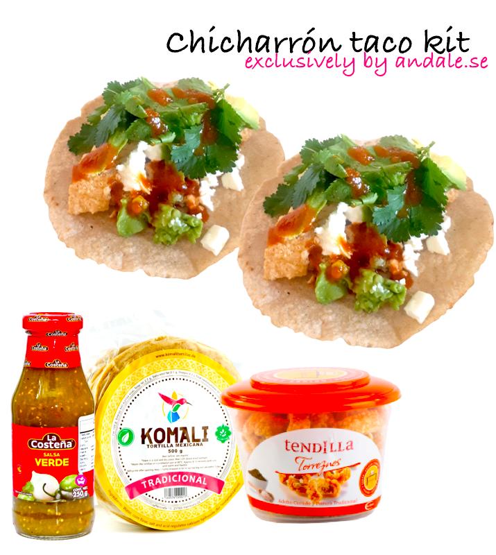 Chicharrón taco kit
