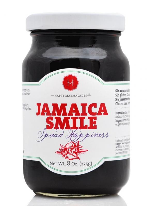 Happy Jamaica marmelad med organisk agave sirap, 235 g. Bäst före juni 2019.